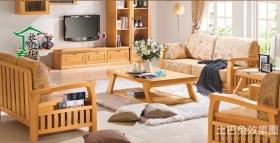 客厅办公实木沙发图片