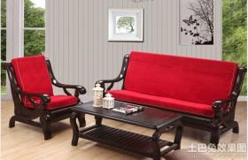 高档实木沙发图片