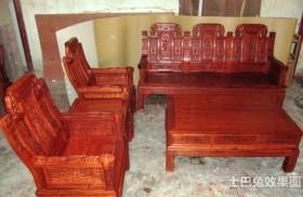 古典实木沙发图片