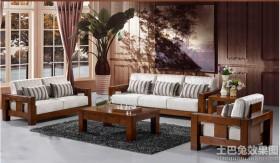现代简约实木沙发图片