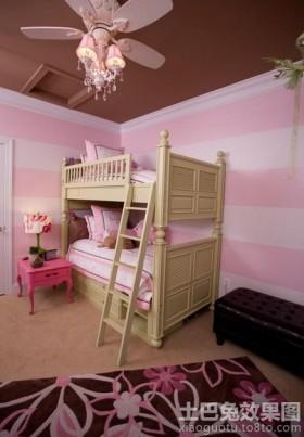 上下铺女生儿童房设计效果图