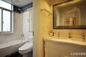 简欧式卫生间装修效果图大全2013图片
