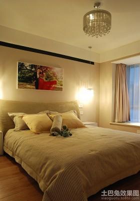 温馨简约婚房卧室装修效果图