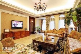 美式别墅客厅电视机背景墙效果图大全