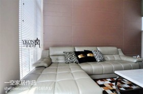 现代客厅拐角沙发图片大全