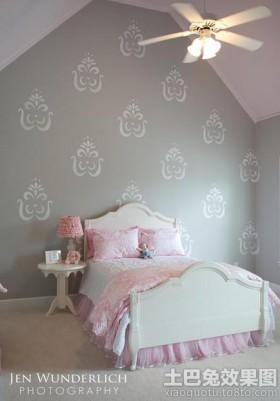 欧式风格卧室背景墙欧式公主房装修效果图欣赏