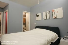 现代简约风格小户型卧室墙面床背景墙效果图
