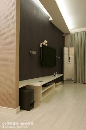 现代简约小户型客厅液晶电视机背景墙效果图
