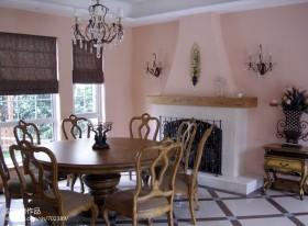 美式别墅餐厅家具图片