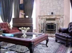 别墅客厅壁炉装修效果图