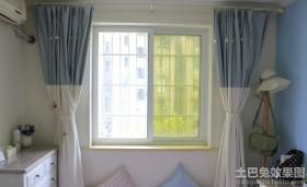 地中海风格房间窗帘装修图片