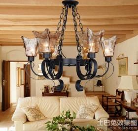欧式复古吊灯灯泡图片