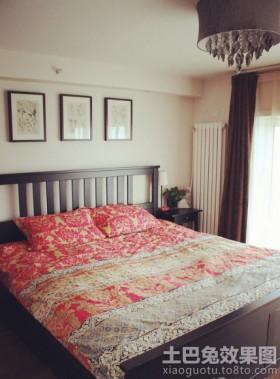 中式复古卧室双人床图片