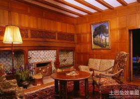 美式客厅落地灯图片