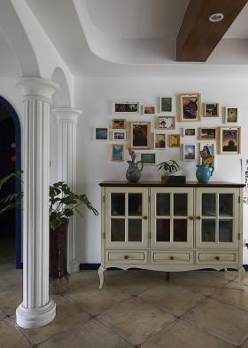 过道照片墙装饰效果图
