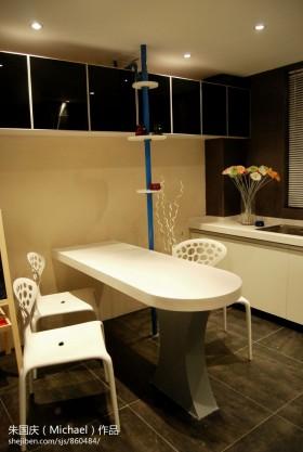 家装小餐厅长方形餐桌装修效果图