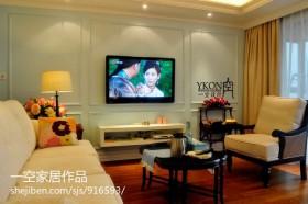 两房一厅客厅电视柜背景墙效果图大全