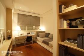 现代简约风格书房带床装修效果图大全2013图片