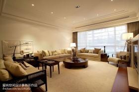 现代简约风格大客厅布艺沙发摆放装修效果图