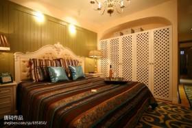 地中海风格三室两厅主卧室装修效果图