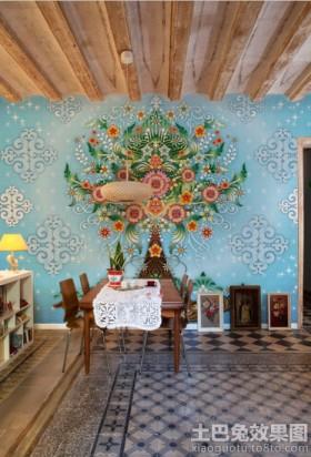 餐厅背景墙装饰效果图