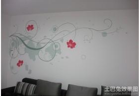 客厅手绘墙画图片