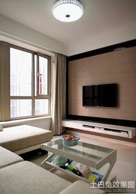 现代简约电视背景墙装修效果图片