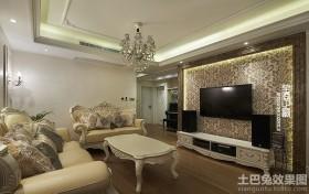 欧式客厅电视背景墙壁纸图片