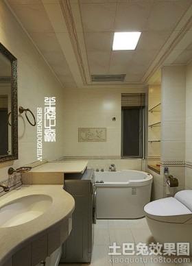 长方形家庭卫生间装修效果图欣赏