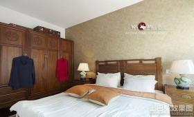 中式卧室衣柜装修效果图