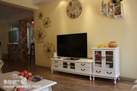 田园风格电视柜背景墙装修效果图大全