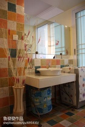 田园洗手间装修效果图欣赏