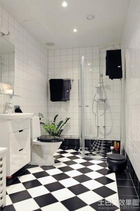 简约长方形卫生间装修效果图