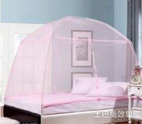 简约欧式卧室蒙古包蚊帐图片