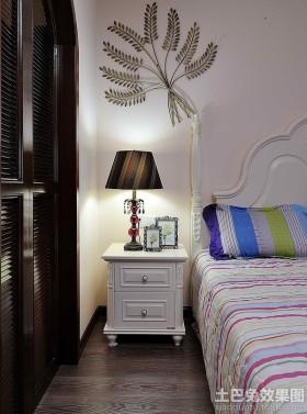 田园风格卧室床头柜图片欣赏
