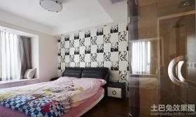 现代简约主卧室墙纸图片大全