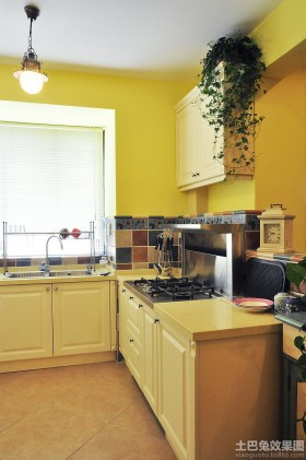 地中海小户型厨房装修效果图大全2013图片