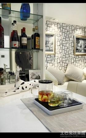 现代简约风格客厅储物柜装设图片