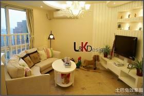 简约风格两室两厅客厅装修效果图欣赏