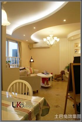 简约小客厅吊顶效果图大全2013图片