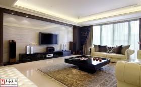 两室两厅客厅大理石电视背景墙装修效果图