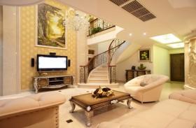 客厅挂画电视背景墙效果图欣赏
