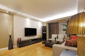 现代简约风格两房一厅客厅电视背景墙效果图