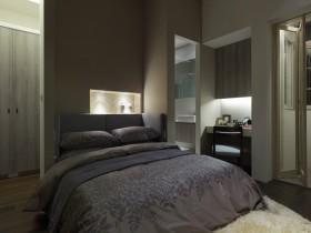 现代风格卧室装修实景图片