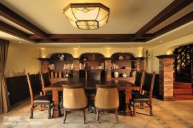 美式别墅餐厅装修效果图欣赏