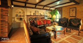 美式风格别墅客厅装修效果图大全图片