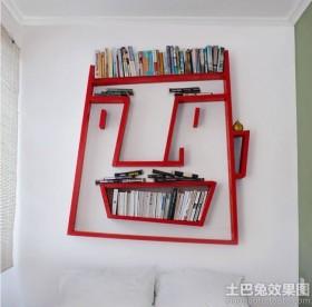 卧室墙壁书架装修效果图