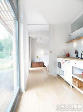 一字型阳光厨房装修效果图欣赏