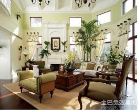 美式风格别墅样板房客厅设计