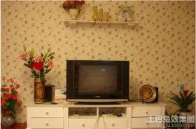 电视背景墙清新小碎花背景图